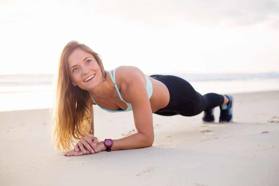 Elbow Plank on the beach