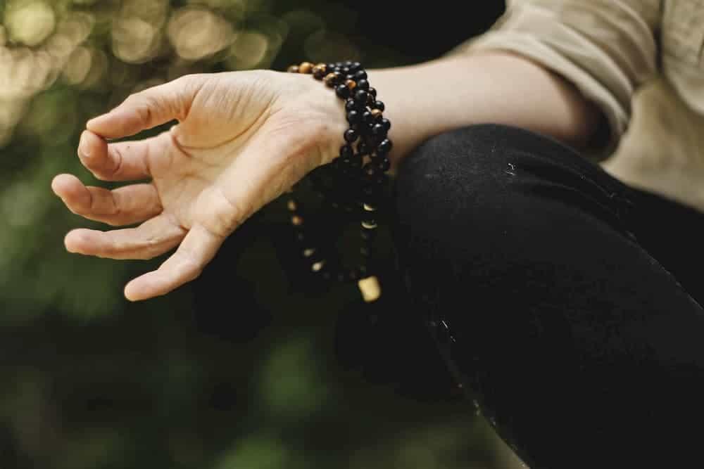 Meditating hands